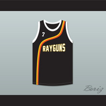 Jermaine O'Neal 7 Roswell Rayguns Black Basketball Jersey