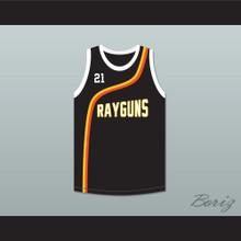 Tim Duncan 21 Roswell Rayguns Black Basketball Jersey