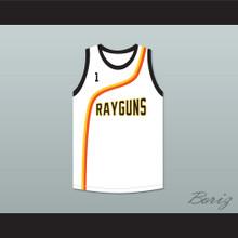 Baron Davis 1 Roswell Rayguns White Basketball Jersey