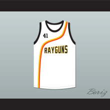 Dirk Nowitzki 41 Roswell Rayguns White Basketball Jersey