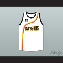 Jerry Stackhouse 42 Roswell Rayguns White Basketball Jersey