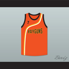 Jermaine O'Neal 7 Roswell Rayguns Orange Basketball Jersey