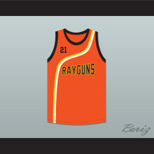 Tim Duncan 21 Roswell Rayguns Orange Basketball Jersey