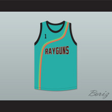 Baron Davis 1 Roswell Rayguns Teal Basketball Jersey