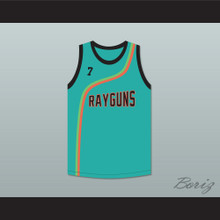 Jermaine O'Neal 7 Roswell Rayguns Teal Basketball Jersey