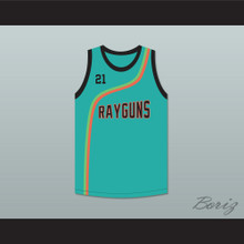Tim Duncan 21 Roswell Rayguns Teal Basketball Jersey