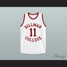 Sinbad Coach Walter Oakes 11 Hillman College White Basketball Jersey A Different World