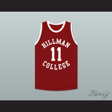 Sinbad Coach Walter Oakes 11 Hillman College Maroon Basketball Jersey A Different World