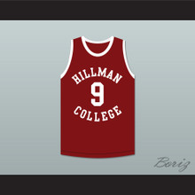 Kadeem Hardison Dwayne Wayne 9 Hillman College Maroon Basketball Jersey A Different World