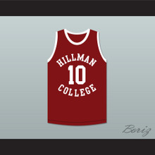 Darryl M. Bell Ronald 'Ron' Johnson 10 Hillman College Maroon Basketball Jersey A Different World