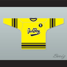 Notorious B.I.G. 97 Bad Boy Yellow Hockey Jersey Includes Patch