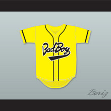 Biggie Smalls 10 Bad Boy Yellow Baseball Jersey