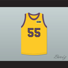 Nipsey Big Nip 55 Yellow Basketball Jersey with Martin Patch