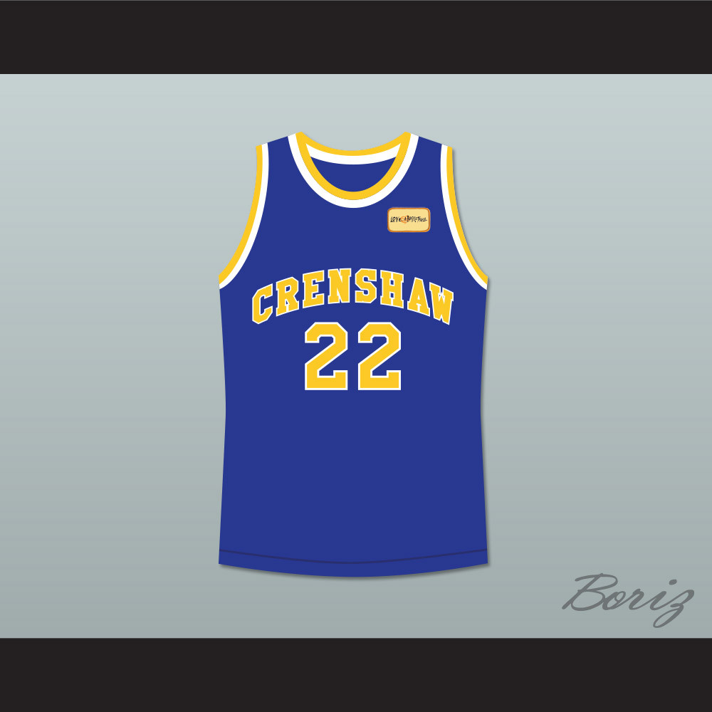 335ed921faa2 Quincy McCall 22 Crenshaw High School Blue Basketball Jersey with Love and  Basketball Patch. Price   55.99. Image 1