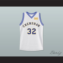 Monica Wright 32 Crenshaw High School Basketball Jersey with Love and Basketball Patch