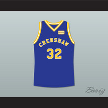Monica Wright 32 Crenshaw High School Blue Basketball Jersey with Love and Basketball Patch