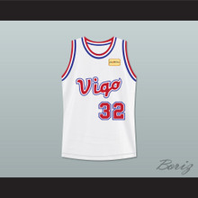 Monica Wright 32 Vigo Basketball Jersey with Love and Basketball Patch
