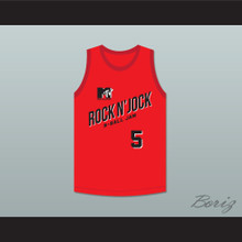 Danny Manning 5 Bricklayers Basketball Jersey Second Annual Rock N' Jock B-Ball Jam 1992