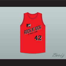 Brian Robbins 42 Bricklayers Basketball Jersey Second Annual Rock N' Jock B-Ball Jam 1992