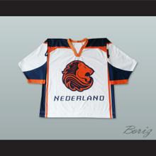 Nederland National Team White Hockey Jersey