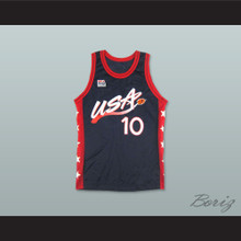 1996 Reggie Miller 10 USA Team Away Basketball Jersey