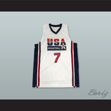 Larry Bird 7 USA Team Home Basketball Jersey