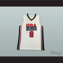 Scottie Pippen 8 USA Team Home Basketball Jersey