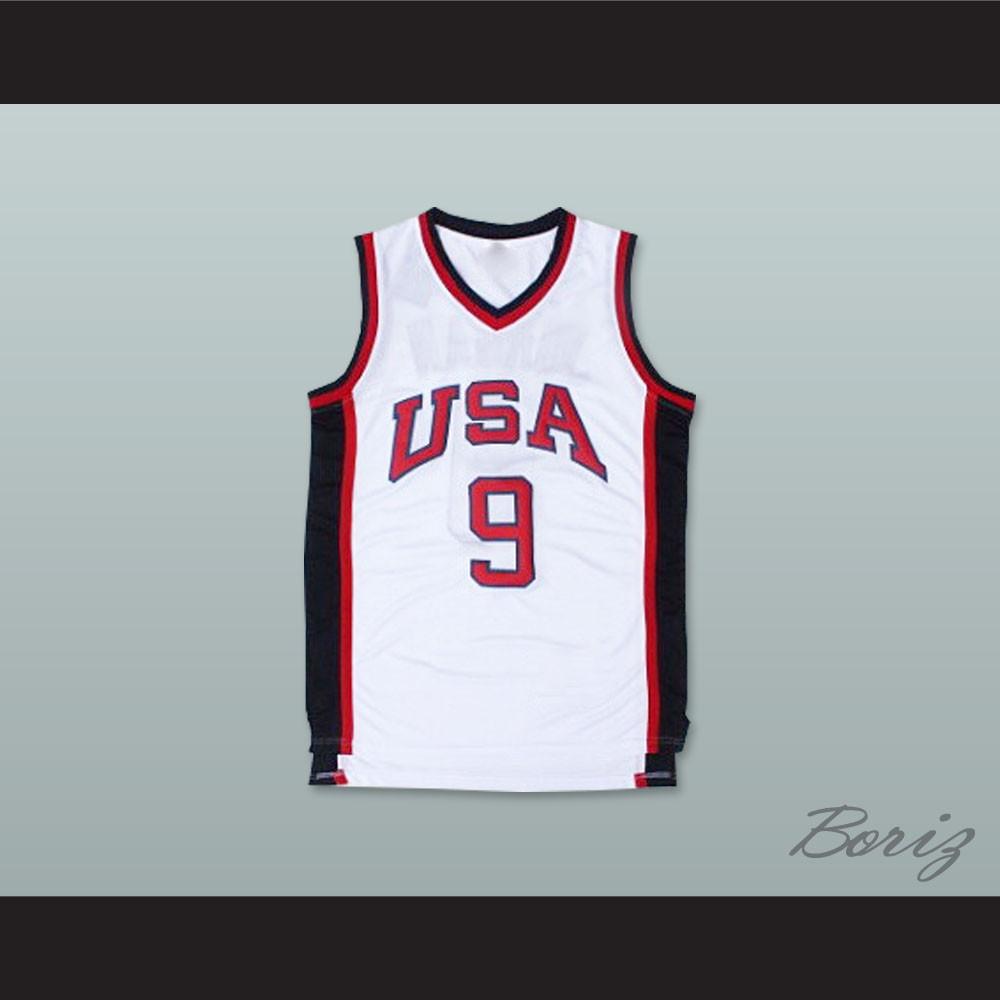 size 40 8901f 3c7ef 1984 Michael Jordan 9 USA Team Home Basketball Jersey