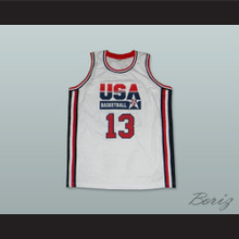 1992 Chris Mullin 13 USA Team Home Basketball Jersey