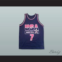 1994 Shawn Kemp 7 USA Team Away Basketball Jersey