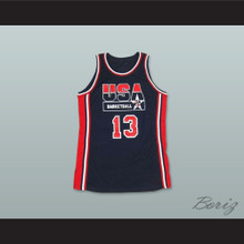 1992 Chris Mullin 13 USA Team Away Basketball Jersey