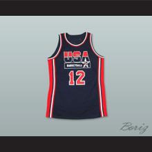 1992 John Stockton 12 USA Team Away Basketball Jersey