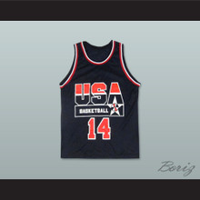 Alonzo Mourning 14 USA Team Away Basketball Jersey