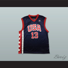 Tim Duncan 13 USA Team Away Basketball Jersey