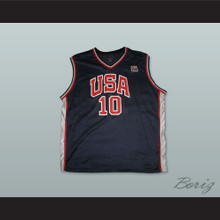 Kevin Garnett 10 USA Team Away Basketball Jersey