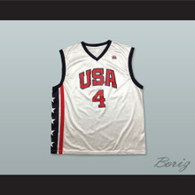 Allen Iverson 4 USA Team Home Basketball Jersey