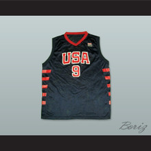 Lebron James 9 USA Team Away Basketball Jersey