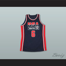 1992 Patrick Ewing 6 USA Team Away Basketball Jersey