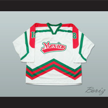 Mexico National Team White Hockey Jersey Any Player or Number