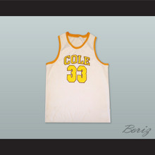 Shaquille O'Neal 33 Robert G. Cole High School White Basketball Jersey