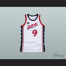 1996 Mitch Richmond 9 USA Team Home Basketball Jersey