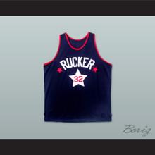 1975 Rucker Park NYC 32 Dark Blue Basketball Jersey