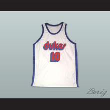 Norm Nixon 10 Duquesne University Dukes White Basketball Jersey