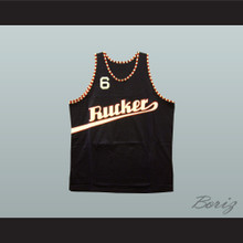 1977 Rucker Park 6 Black Basketball Jersey