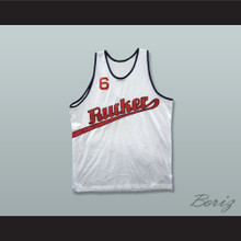 1977 Rucker Park 6 White Basketball Jersey