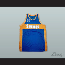 1960 Rucker Park Sonics 20 Blue Basketball Jersey