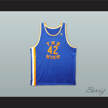 Rucker Park The High 42 Blue Basketball Jersey