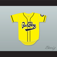 Biggie Smalls 10 Bad Boy Yellow Baseball Jersey with 20 Years Patch