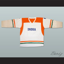 India National Team White Hockey Jersey Any Player or Number
