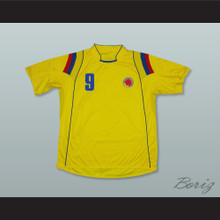 Falcao 9 Colombia Home Football Soccer Shirt Jersey